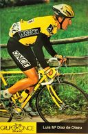 Postcard Luis Maria Diaz De Otazu  -  ONCE  -  1995 - Cycling