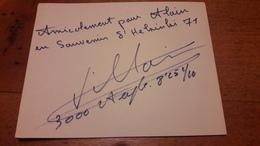 Jean-Paul Villain Autographe Champion D'Europe Du 3000m Steeple 1971 - Atletismo