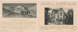 OLD  ADVERTISING ITEM - SWITZERLAND -  HOTEL NATIONAL - WALDHAUS FLIMS - GR Grisons