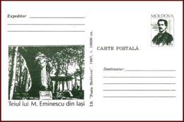 "Moldova 1997 ""Mihai Eminescu (1850-1889)"" Prepaid Postcard (PC) Quality:100% - Moldavia"