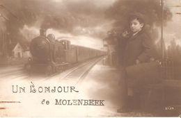 40) Un Bonjour De Molenbeek - 1919 - Molenbeek-St-Jean - St-Jans-Molenbeek