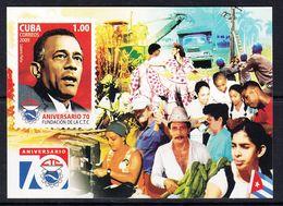2009 Cuba Union Truck Microscope Dance Souvenir Sheet MNH - Nuevos