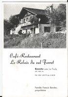 Petit Feuillet Publicitaire - La Fouly Val Ferret - Café Restaurant - Le Relais Du Val Ferret - Non Classés