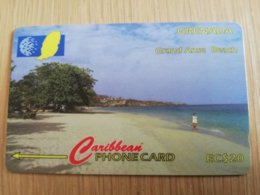 GRENADA  $ 20,- GPT GRE-51CGRC    GRAND ANSE BEACH ST GEORGES    MAGNETIC    Fine Used Card    **2258** - Grenada