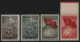 Russia / Sowjetunion 1938 - Mi-Nr. 584-587 ** - MNH - Nordpol / North Pole (II) - 1923-1991 URSS