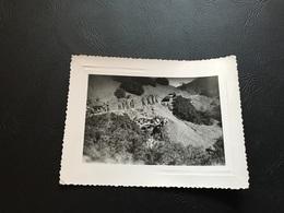 Guerre D'Algerie - Accident De Half Track M3 Dans Un Ravin - Lot 2 Photos - Guerre, Militaire