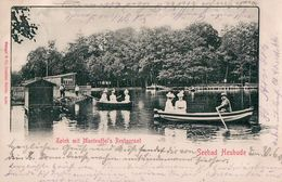 Seebad Heubude (Danzig). Teich Mit Manteuffel's Restaurant, 1901. (Bùdë, Stogi, Gdańsk) - Pologne