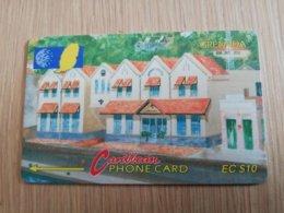 GRENADA  $ 10,- GPT GRE-105CGRF  GRENTEL BUILDING    MAGNETIC    Fine Used Card    **2267** - Grenada