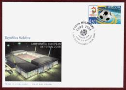 "Moldova 2008 FDC ""UEFA European Soccer Championships «EURO 2008»"" Quality:100% - Moldavie"