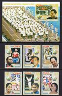 2012 Cuba London Olympics Boxing Volleyball  Complete Set Of 6 + Souvenir Sheet MNH - Ungebraucht