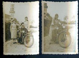 Lot De Deux Photos Belle Moto Appartenat à Mr ...  De Kérity Paimpol     AVR20-111 - Foto's