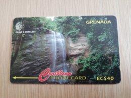 GRENADA  $ 40,- GPT GRE-287CGRA   ROYAL MT CARMEL WATERFALLS     MAGNETIC    Fine Used Card    **2274** - Grenada