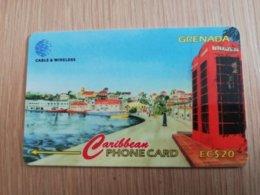 GRENADA  $ 20,- GPT GRE-287CGRB   CARENAGE      MAGNETIC    Fine Used Card    **2275** - Grenada