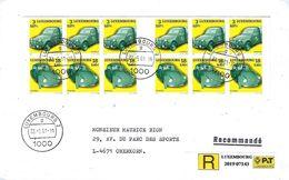 Luxembourg - Lettre Recommandé 22.5.2001 - Citroën 2CV - Volkswagen Käfer - Luxemburgo