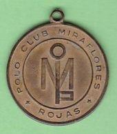POLO CLUB MIRAFLORES ROJAS, VOCAL. CIRCA 1905's, ARGENTINA. MEDALLA MEDAL MEDAILLE -LILHU - Tokens & Medals
