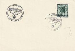 """Deutsches Reich / 1938 / Karte SSt. Wien """"Geburtstag 20. April"""" (BP32) - Lettres & Documents"""