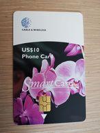 GRENADA   US $10,- CHIPCARD SMARTCARD ORCHID     /FLORAL SERIES    Fine Used Card  **2282** - Grenada