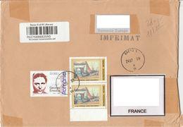 Roumanie 2005 Compositeur Enescu 2003 Peintre Steriadi Sur Lettre Recommandée Romania Composer Painter Registred Letter - Covers & Documents