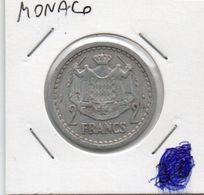 MONACO 2 FRANCS 1943 KM-121 - Mónaco