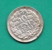 NEDERLAND 10 CENTS 1941  KM-163  AG - [ 3] 1815-… : Royaume Des Pays-Bas