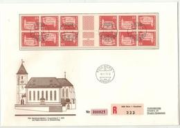 Suisse // Schweiz // Switzerland //  1970-1979 // Lettre Recommandée Philmail  Monuments Historiques Ponts Et Se Tenant - Lettres & Documents