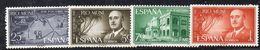 KS13 - RIO MUNI 1961 , Yvert N. 21/24 **  MNH (2380A)  Francisco Franco - Riu Muni