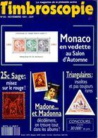 Timbroscopie N.85 Novembre 1991,20F Pointe-du-Raz,levée Exceptionnelle Marque Postale,Exprès Belgique,Sage 25 Centimes - Français (àpd. 1941)