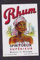 Ancienne étiquette Alcool France Rhum Vieux Femme - Rhum