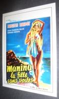 Carte Postale : Brigitte Bardot (film Cinéma Affiche) Manina La Fille Sans Voiles - Posters On Cards