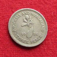 Rhodesia & Nyasaland 3 Three Pence 1956 KM# 3  Rodesia Rhodesie - Rhodesia