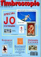 Timbroscopie N.88 Fevrier 1992,Jeux Olympique Paris 1924,C.Colomb,25c Cérès Bleu,Arc De Triomphe,JO Albertville - French (from 1941)