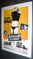 Carte Postale : Brigitte Bardot (film Cinéma Affiche) Solamente Por Amor (La Bride Sur Le Cou) - Posters On Cards