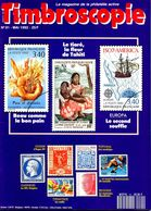 Timbroscopie N.91 Mai 1992,expo International Paris 1937,Hydravion France-Madagascar 1926,Publibel Belgique,25c Empire - Magazines