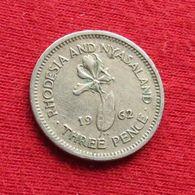 Rhodesia & Nyasaland 3 Three Pence 1962 KM# 3 *V1 Rodesia Rhodesie - Rhodesia