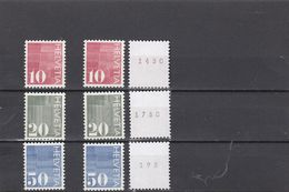 Suisse - Année 1970 - Courants - Neuf** - Timbres-poste Pour Distributeurs Automatiques Et Avec Marque De Contrôle - Svizzera