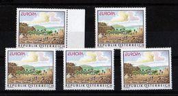 1994 Austria EUROPA CEPT EUROPE 5 Serie MNH** Grandi Scoperte Great Discoveries - 1994