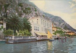 LIMONE SUL GARDA-BRESCIA-LAGO DI GARDA-ALBERGO=LE PALME=-CARTOLINA VERA FOTOGRAFIA- VIAGGIATA IL 5-3-1957 - Brescia