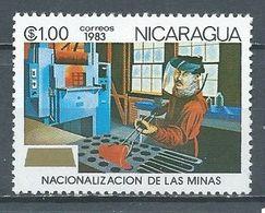 Nicaragua YT N°1297 Nationalisation Des Mines Neuf ** - Nicaragua