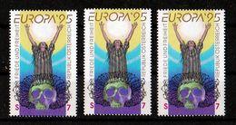 1995 Austria EUROPA CEPT EUROPE 3 Serie MNH** PACE E LIBERTA', PEACE AND FREEDOM - 1995
