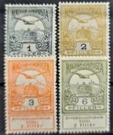 HUNGARY 1913 - MLH - Sc# B1, B2, B3, B5 - Ungebraucht