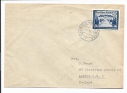 DR  713 EF - 25 Pf Brief Von Garmisch Nach London 1939 Verwendet - Covers & Documents