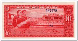 SOUTH VIET NAM,10 DONG,1962,P.5,AU-UNC - Vietnam