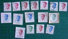 16 Stempels - Oblitérations - Erembodegem - Beveren - Flemalle - Deinze - Mol - Oostkamp - Roosdaal - Lier - Balen - 1981-1990 Velghe