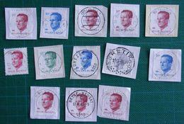 13 Stempels - Oblitérations - Beyne-Heusay - Haaselt - Eghezee - Boussu - Braine - As - Retie - Sint-Truiden - Turnhout - 1981-1990 Velghe