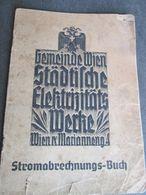STROMABRECHNUNGS BUCH, WIEN 1940 - Autriche
