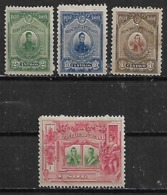 1921-5 Peru Personajes 4v Mint. - Pérou