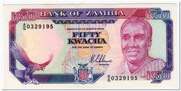 RARE,ZAMBIA,50 KWACHA,1988-89,P.33a,S.8,AU - Zambia