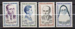 1961--Personnages Célèbres--Héros De La Résistance NEUFS-- Série  N° 1288 à 1291 ( 4 Valeurs) --cote 6 € .......à Saisir - France