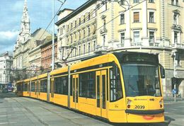 TRAM * TRAMWAY * RAIL * RAILWAY * RAILROAD * SIEMENS COMBINO BKV * BLAHA LUJZA SQUARE BUDAPEST * Top Card 6007 * Hungary - Tramways