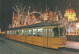 TRAM TRAMWAY RAIL RAILWAY RAILROAD GANZ MAVAG CSMG GCSM ICS BKV KOSSUTH LAJOS SQUARE BUDAPEST * Top Card 6012 * Hungary - Tramways